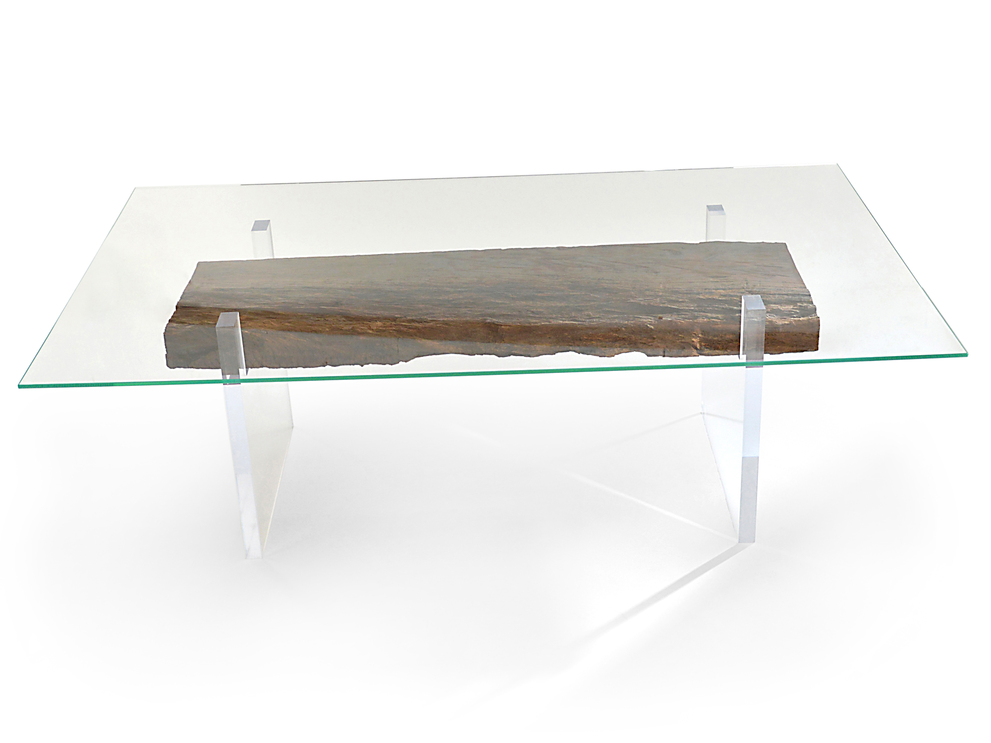 Rotsen-Furniture-Oitis Acrylic Dining Table - Glass Top 05