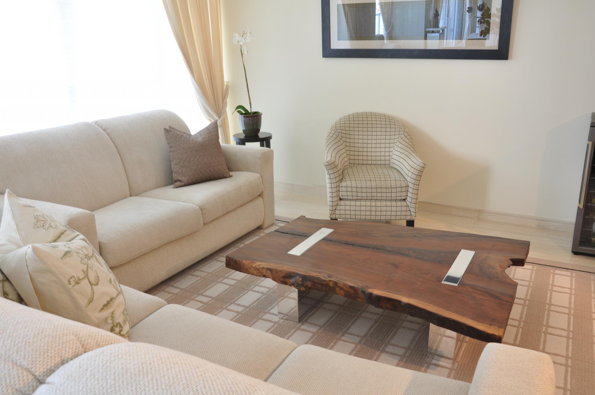 Rotsen-Furniture-Miami-Interior-Design-Walnut Coffee Table - Polished Aluminum Legs 05P(2)