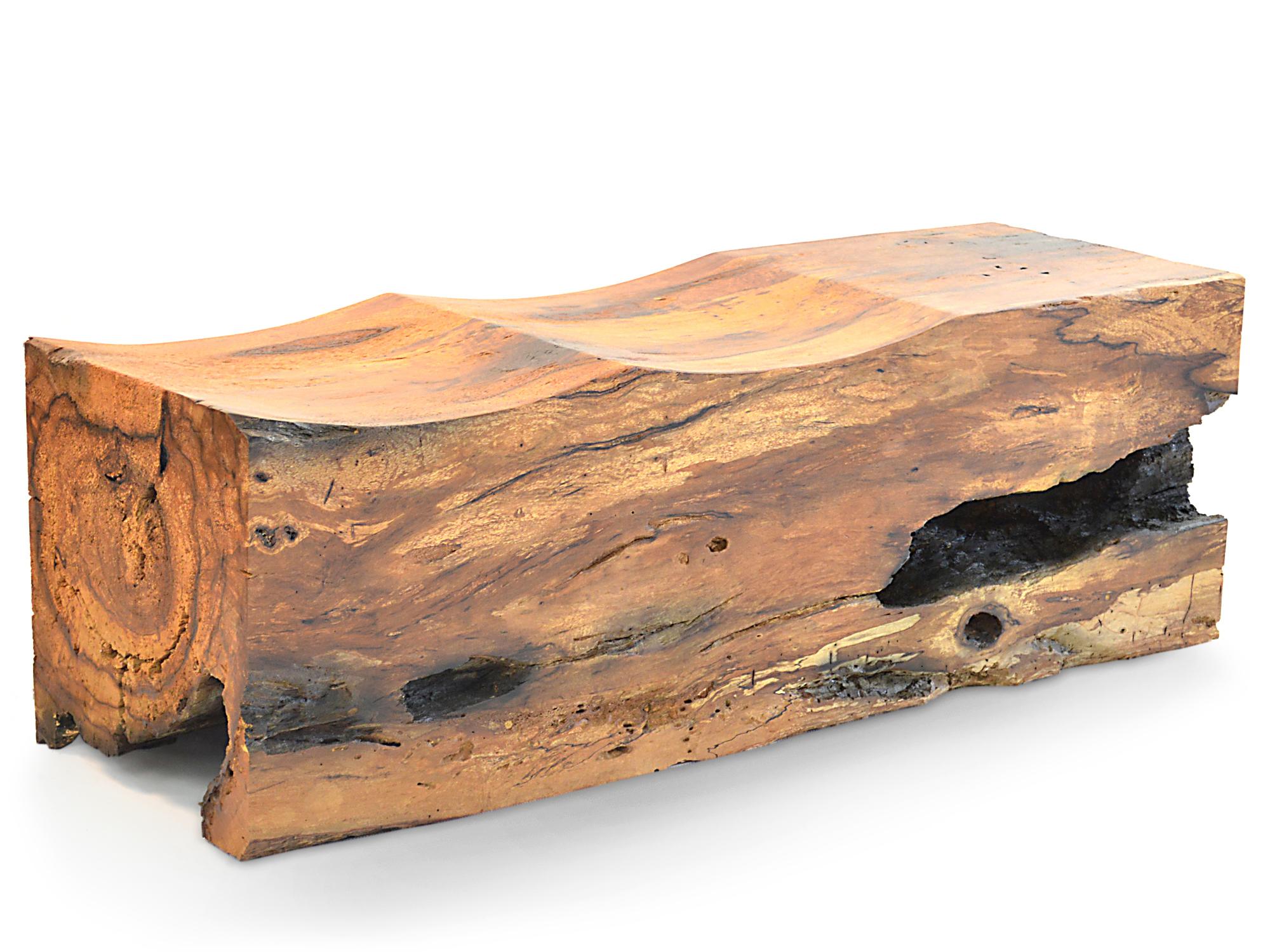 Rotsen Furniture Solid Canela Wood Pedra Bench 010