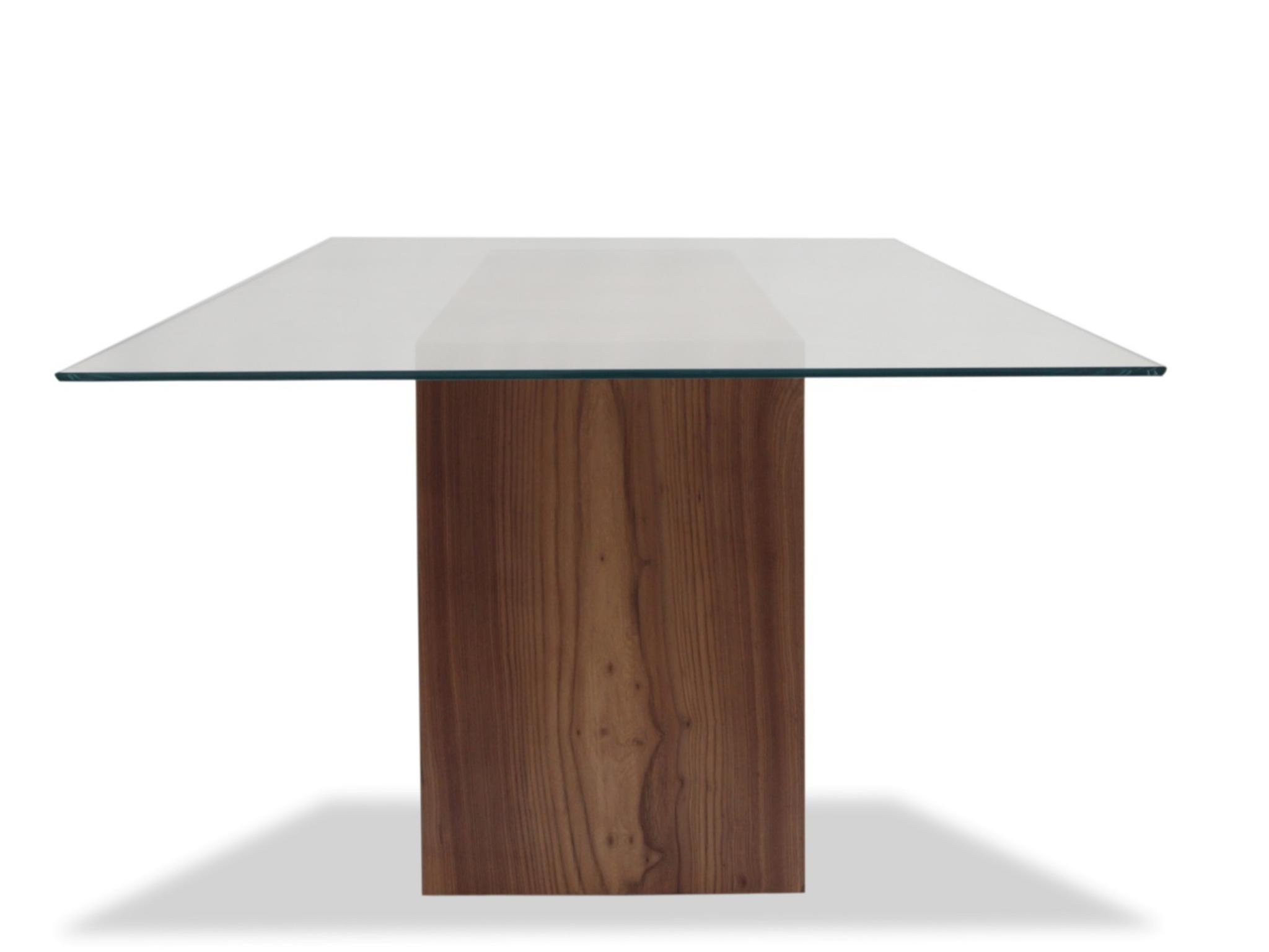 Rotsen Glass Top & Solid Elm Wood Dining Table 03