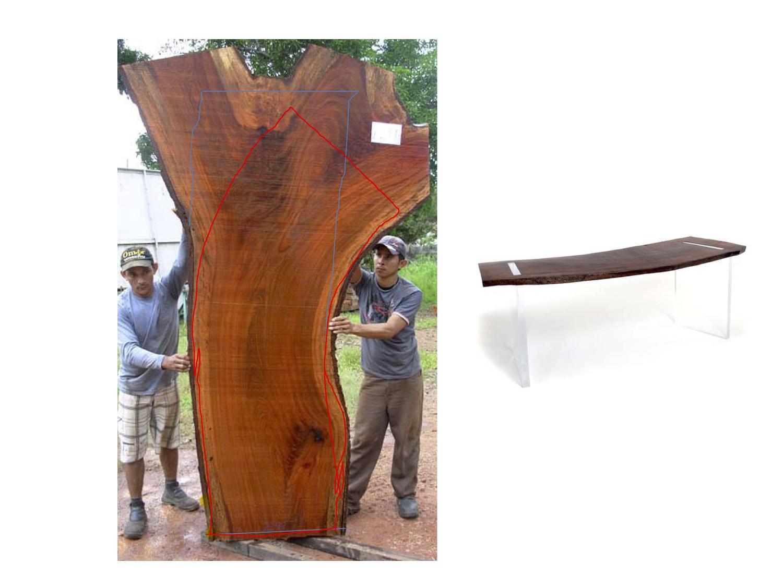 Rotsen Furniture Log for Floating Desk