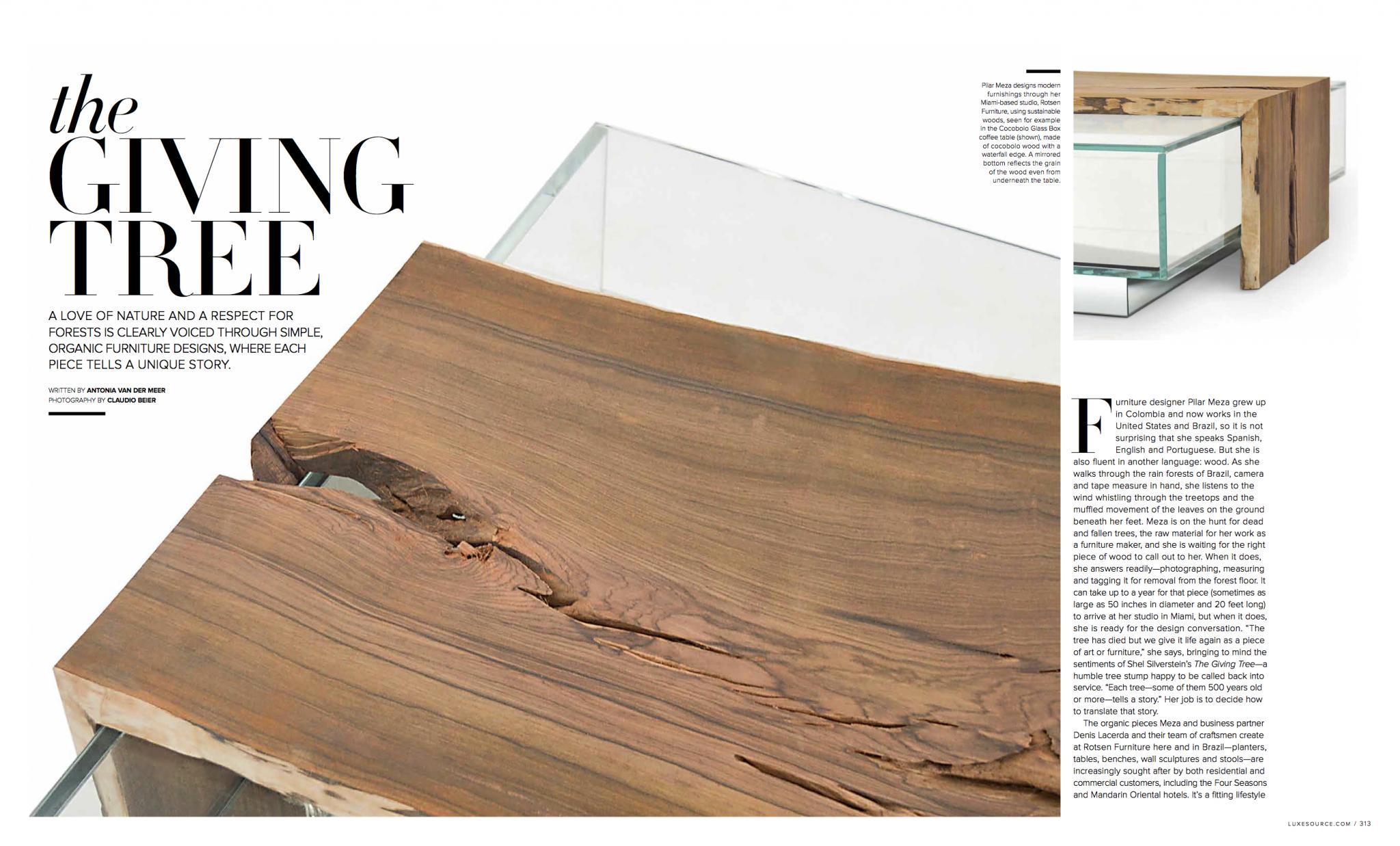 Miami design Magazine - Rotsen Furniture
